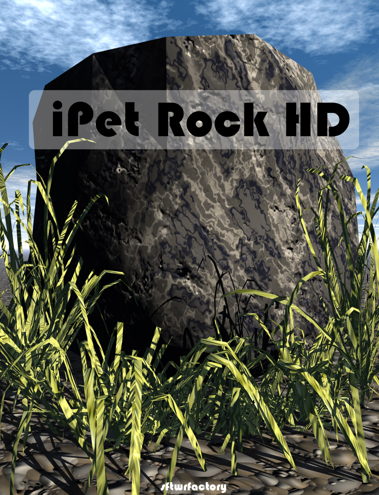 iPet Rock HD Default Screen